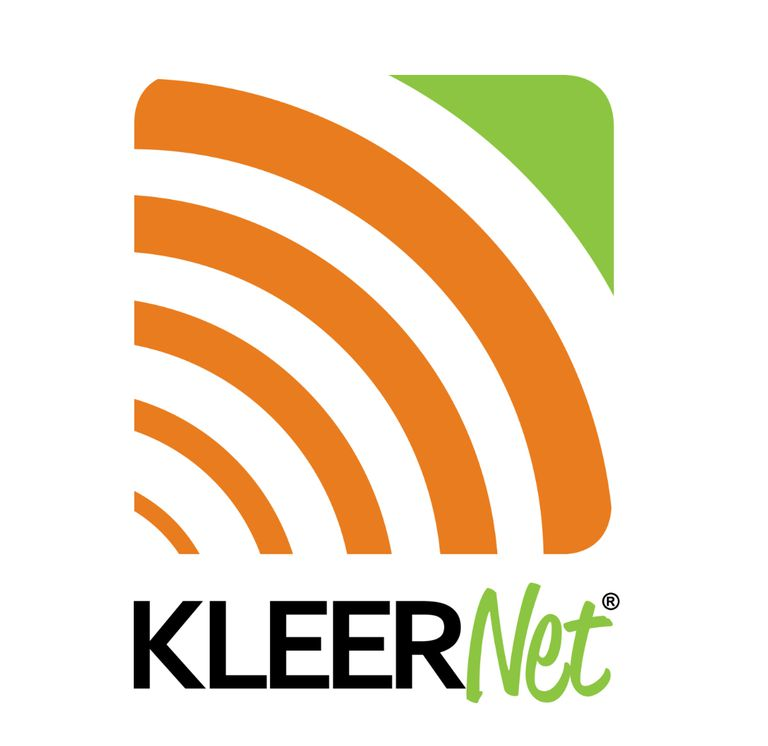 The logo for Kleer/KleerNet wireless technology