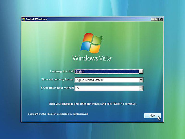 A Screenshot Of Windows Vista Startup Repair Asking For The Language And Other Settings