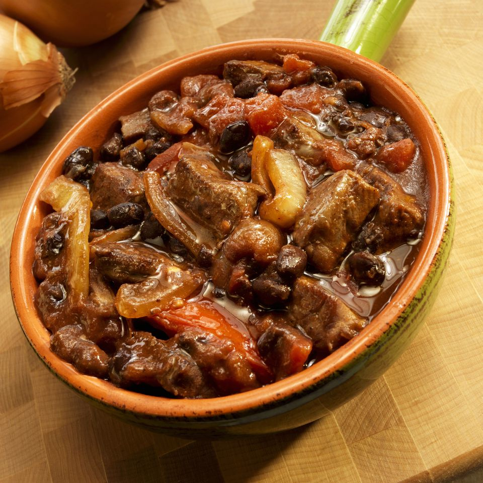 Beef Stew with Beans and Tomatoes