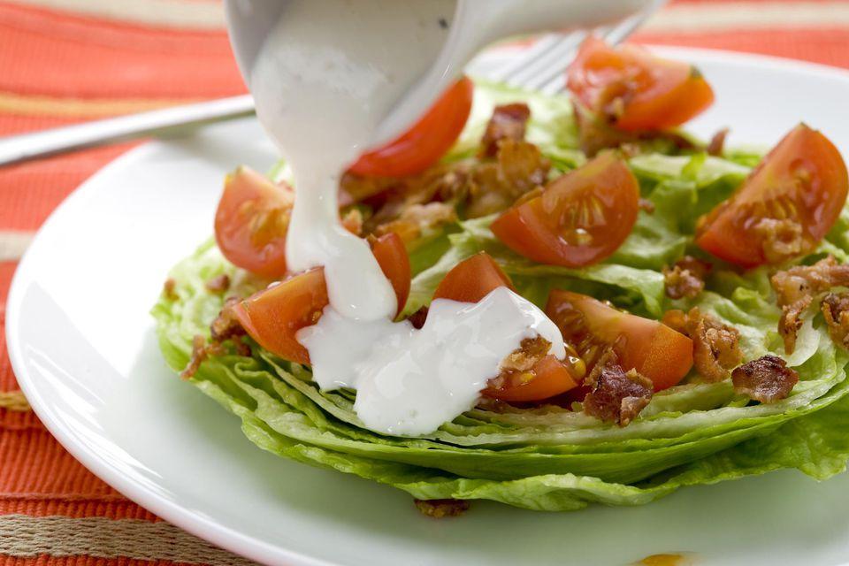 Iceberg 'wedge' Salad with bacon & tomatoes