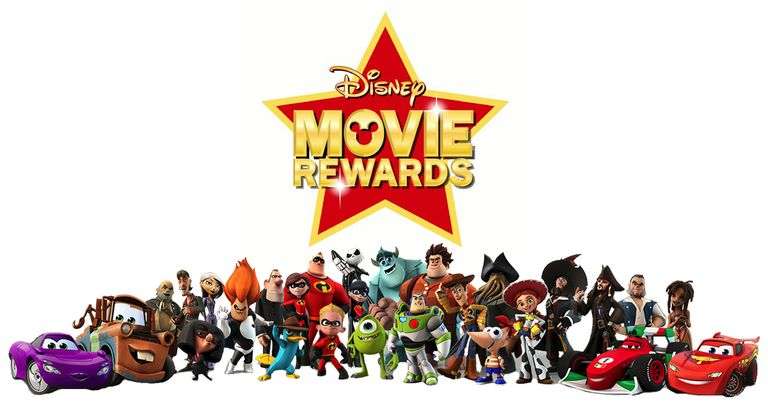 Disney Movie Rewards logo with characters.