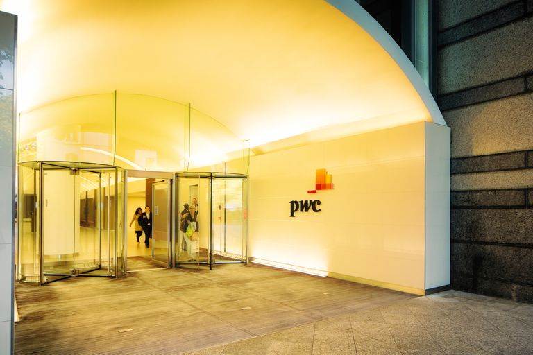 Price Waterhouse Cooper London offices entrance