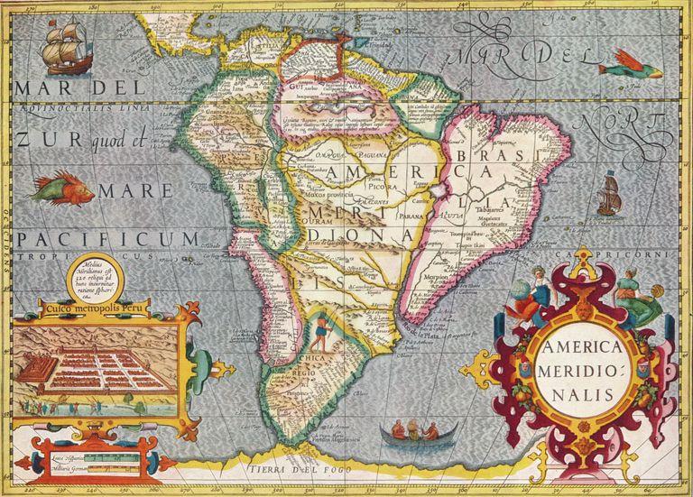 'South America (America Meridionalis): from the Atlas of Gerardus Mercator', 1633, (1936)