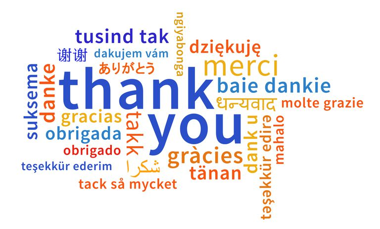 multilingual - thank you