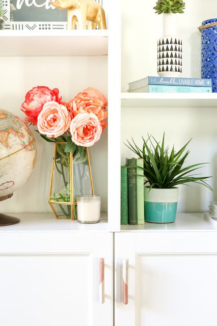 multicolored cabinet handles