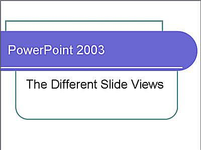 Different ways to view slides in PowerPoint