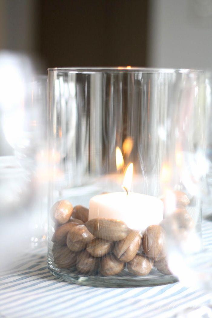DIY Nut Candle Decor
