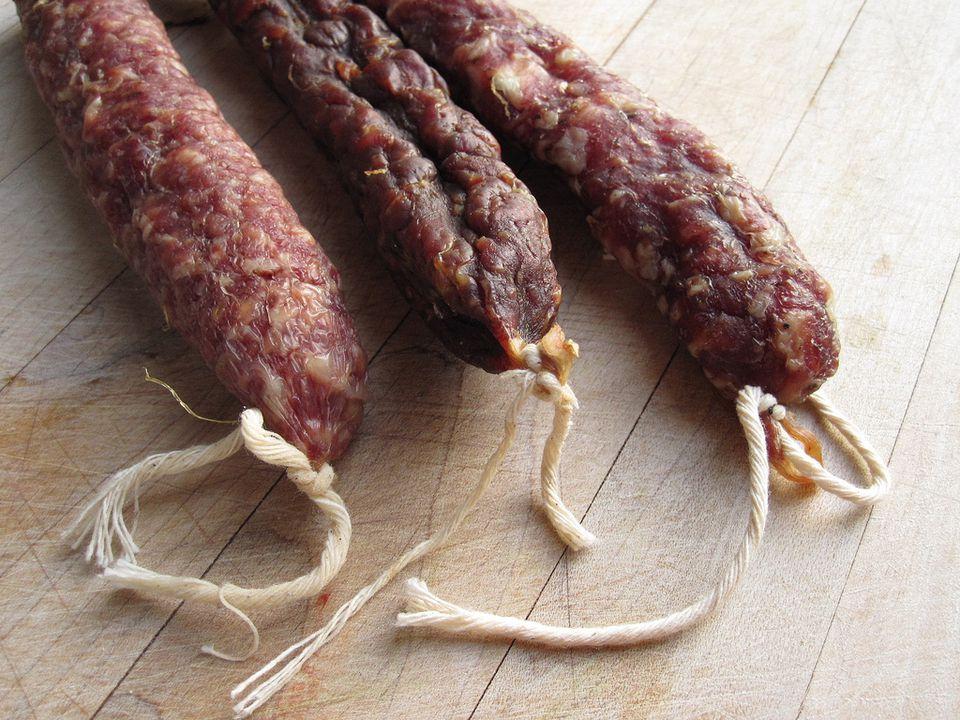 Saucisson Sec sausages