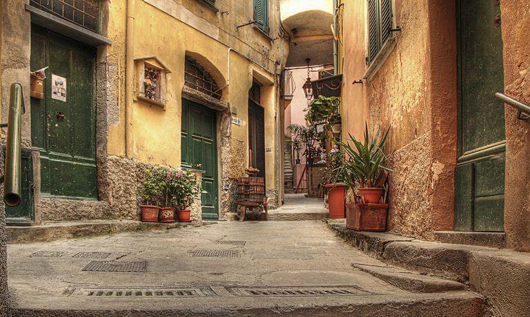 Old street in Vernazza, Italy