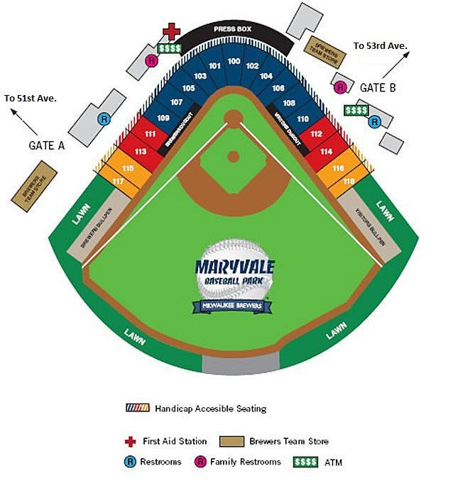 Maryvale Baseball Park Seating Chart