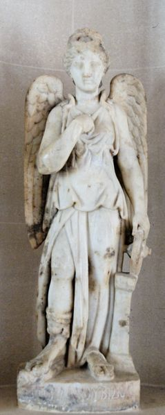 Nemesis, Roman marble from Egypt, 2nd century A.D. (Louvre)