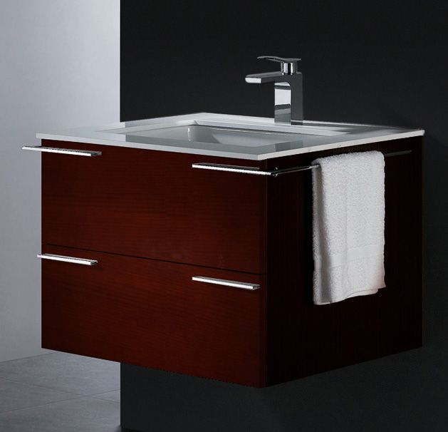 Vigo modern wall mounted vanity with towel bar 9 Scaled Down Vanities for Small Baths