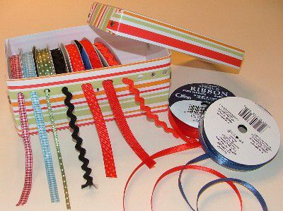 How to Make a Ribbon Organizer Box for Scrapbooking