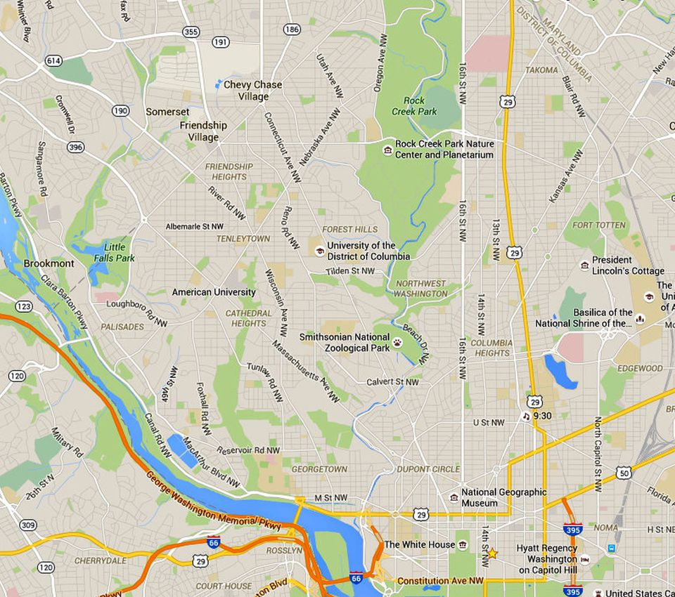 nw washington dc a map and neighborhood guide - nw dc map