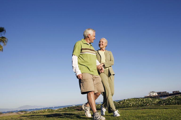 Senior Couple Strolling