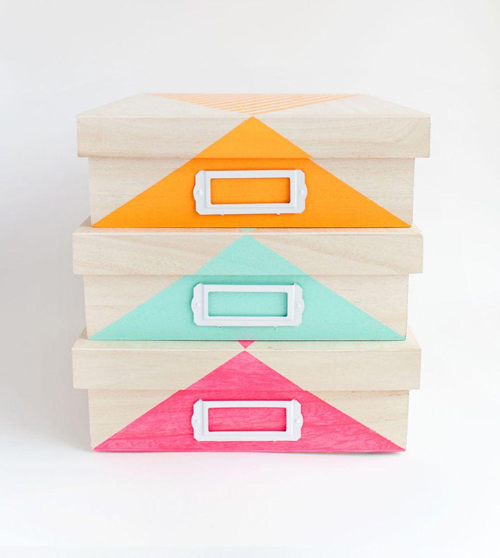 DIY Painted Storage Box