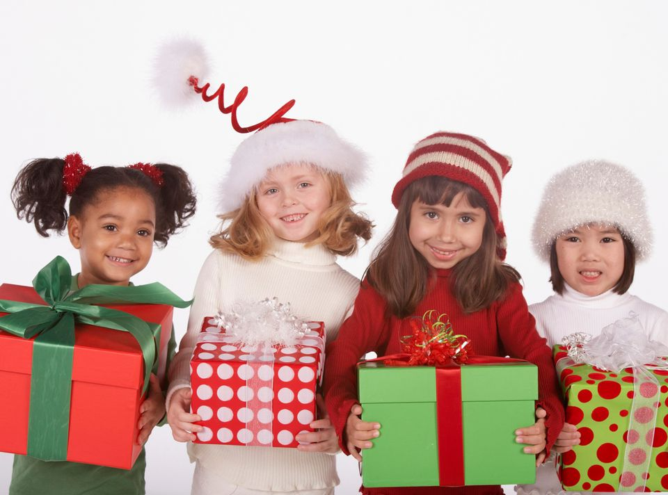 Kids With Christmas Presents