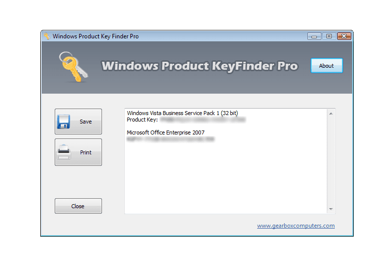 key finder windows 7 professional