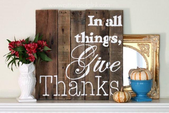 DIY Thanksgiving Pallet Art