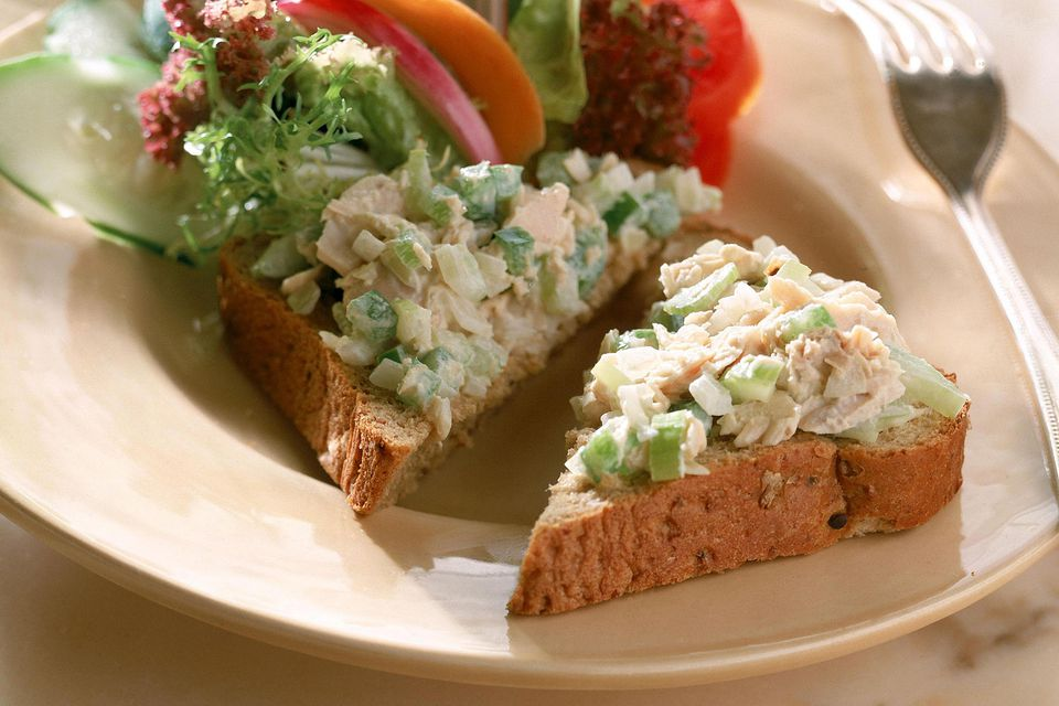 Tuna salad on whole wheat