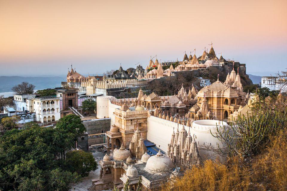 Jain temples on top of Shatrunjaya hill
