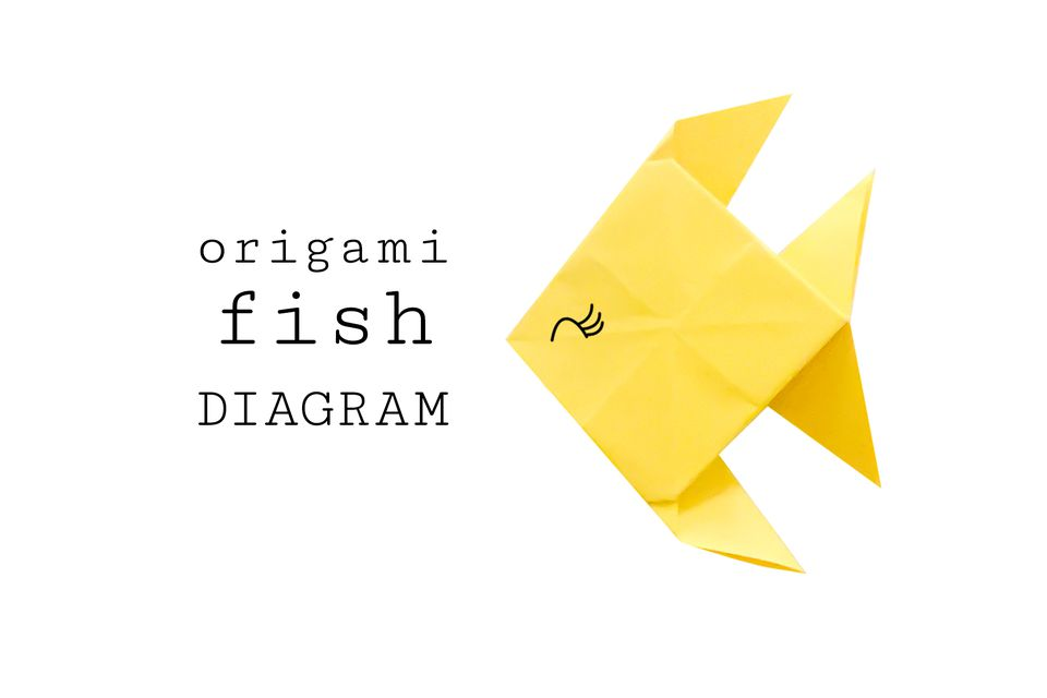 Traditional Origami Fish Diagram