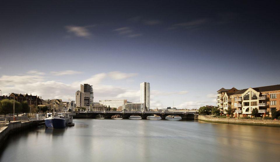 The River Lagan in Belfast, Ireland.
