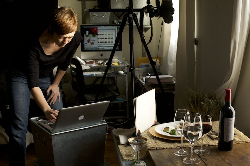 Food Photographer at Work