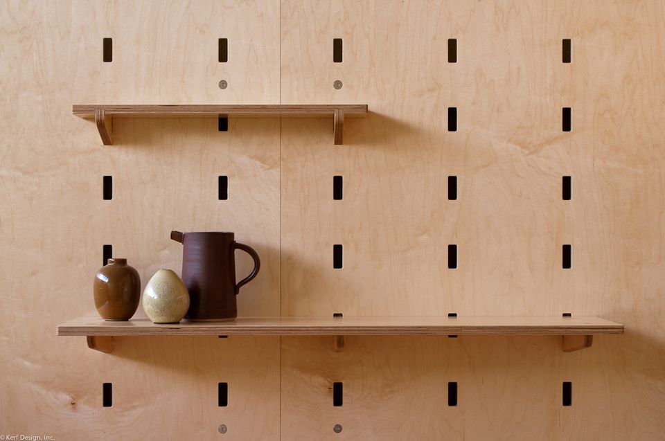 pegboard systematic diy corner shelves
