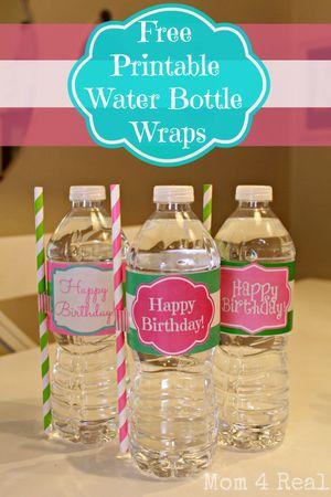 9 sets of free printable water bottle labels for Paris orange card
