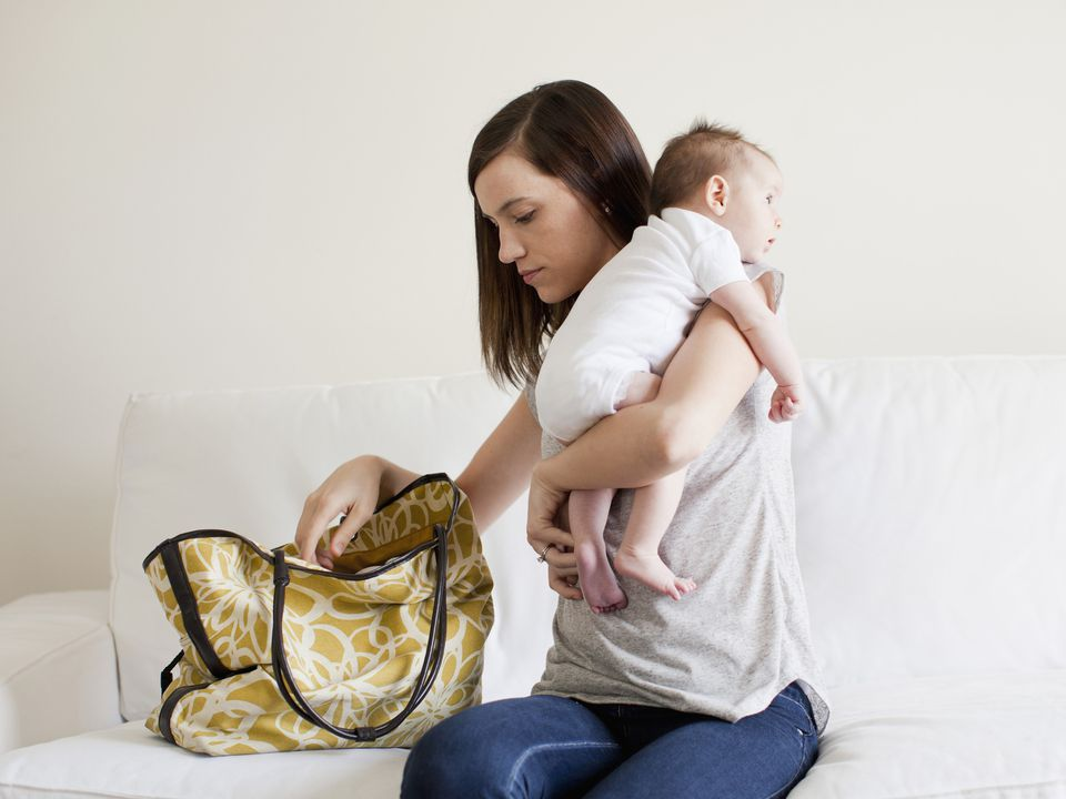 Mother and Baby with Diaper Bag