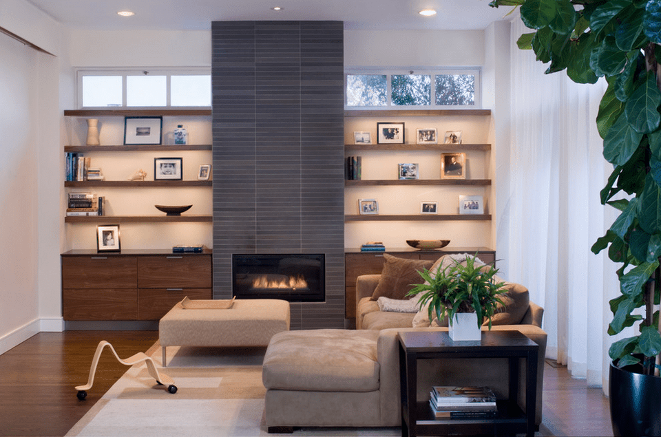 feature wall ideas living room with fireplace 20 beautiful living rooms with fireplaces 27845
