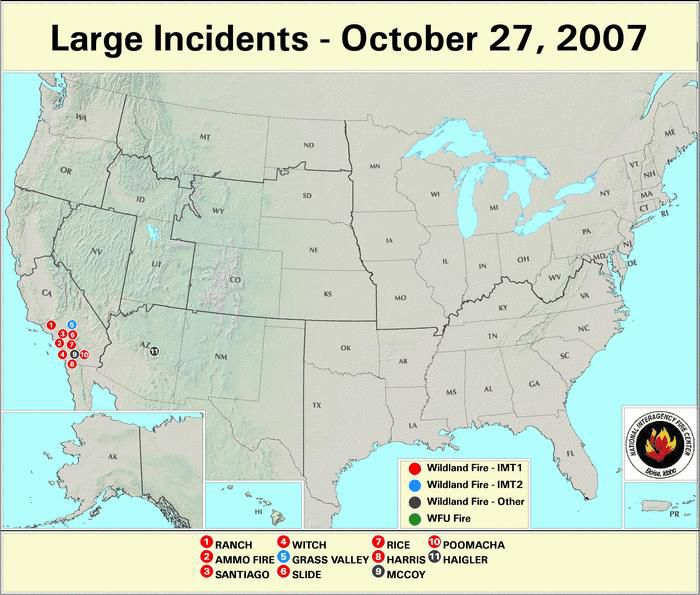 NIFC Large Fire Incident Location Map