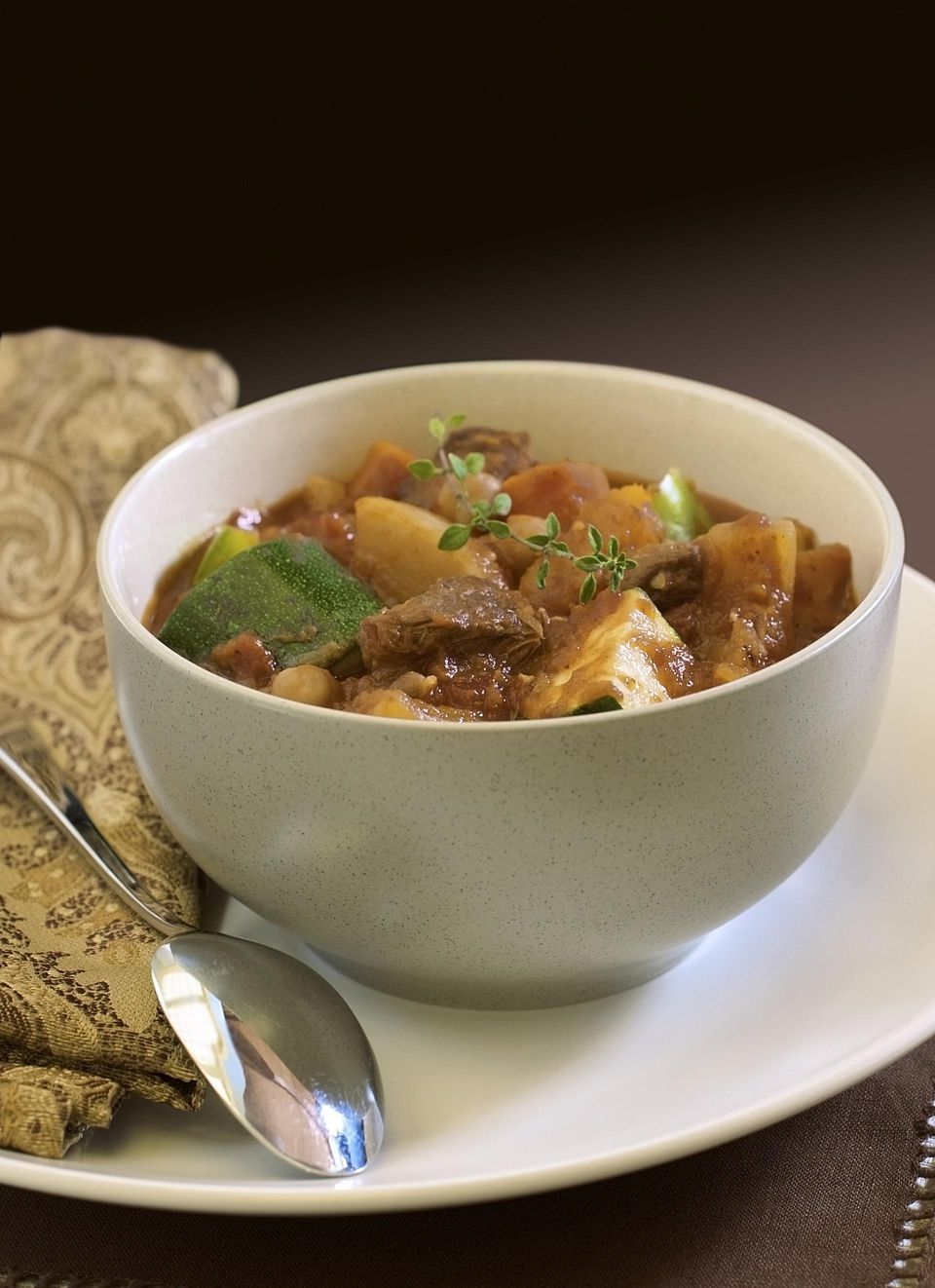Crockpot Pork and Sweet Potato Stew