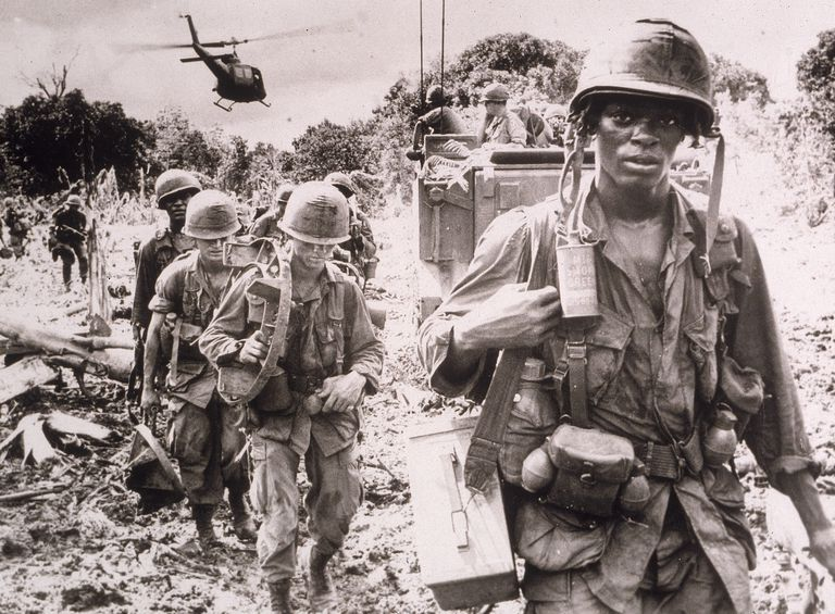 U.S. Troops On Patrol In Vietnam