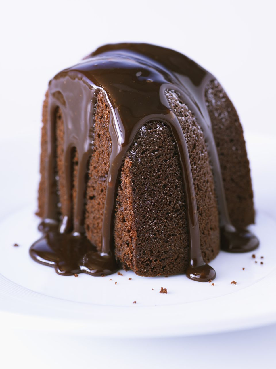 Chocolate bundt cake with chocolate glaze
