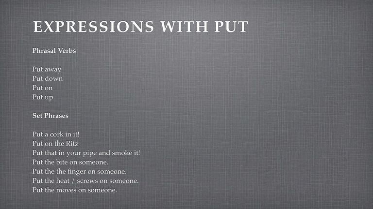 Expressions with Put