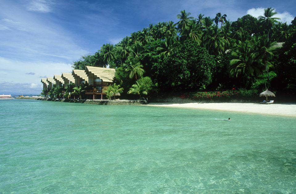 Seaside cottages at Samal Island, Philippines