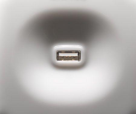 USB-B Port - Standard Computer USB Port (close-up)
