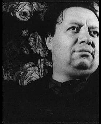 Fotografía retrato de Diego Rivera por Carl van Vechten.