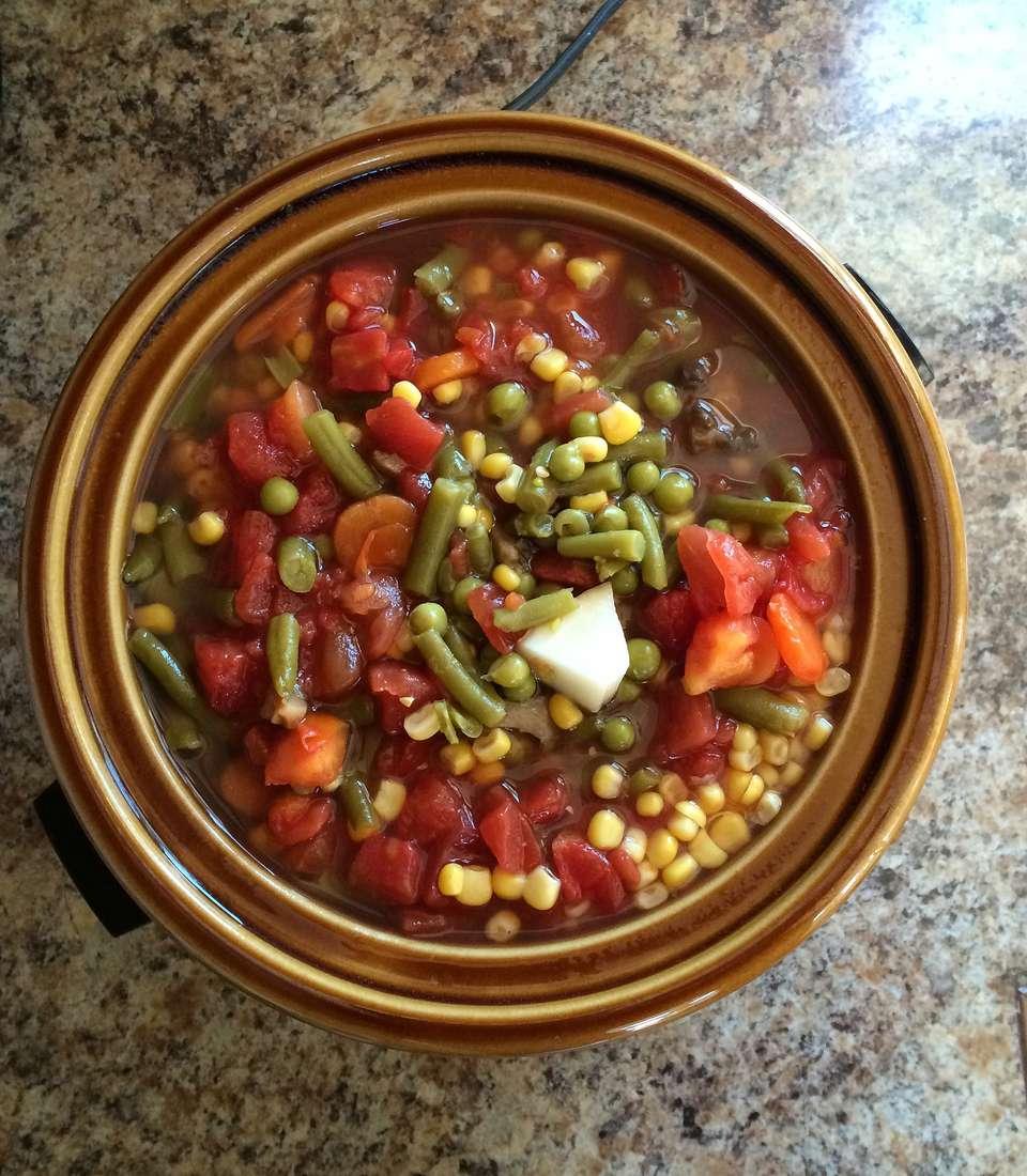 Vegetables in crockpot
