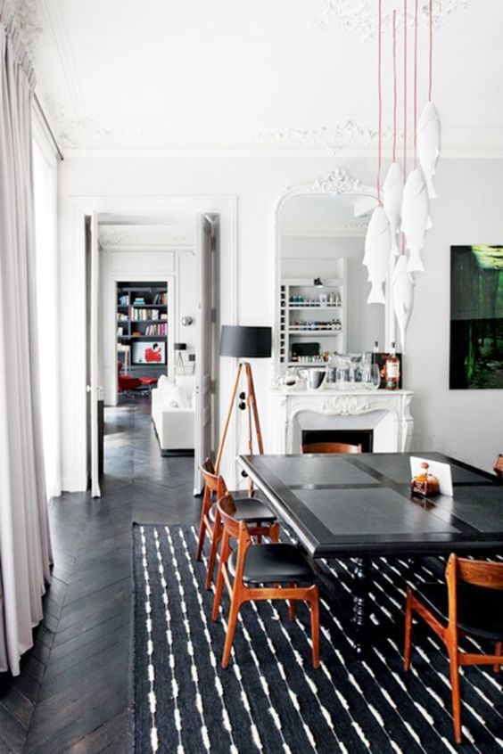 Black and White Dining Room. 25 Beautiful Dining Rooms