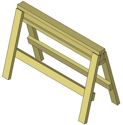 Free Woodworking Plans - Attach the Side Stringers