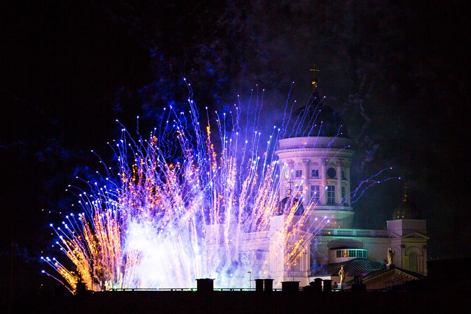New Year 2016 in the city of Helsinki