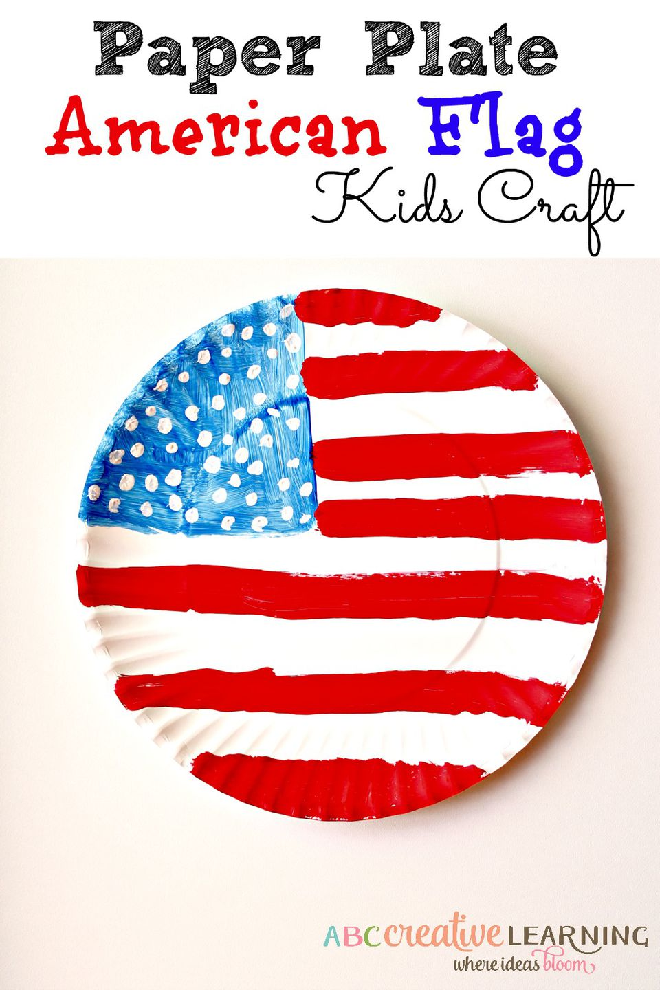 Paper Plate American Flag Craft