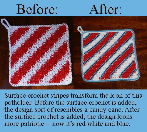 Surface Crochet Completely Transforms the Look of This Potholder.