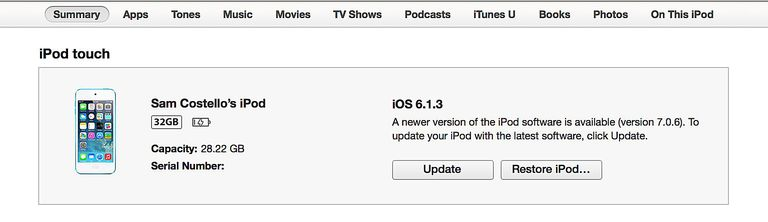 iOS update, step 1