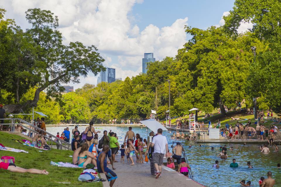 Barton Springs Pool, Austin, Texas