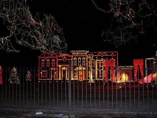 Nela Park holiday lights display, Cleveland Ohio