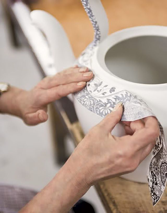 Part of the transferware process.